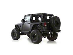 Smittybilt XRC Rear Corner Guards - Black Textured (07-18 Jeep Wrangler JK 2 Door)