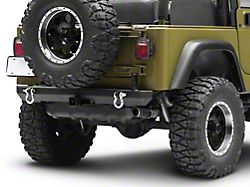 Smittybilt SRC Classic Rear Bumper with D-Rings; Textured Black (87-06 Jeep Wrangler YJ & TJ)
