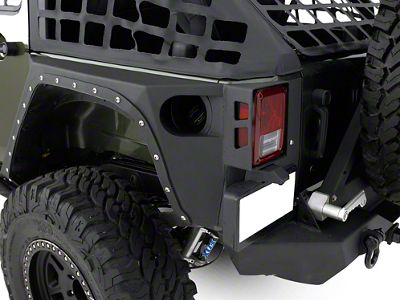Add Smittybilt XRC Rear Corner Guards - Black Textured (07-17 Wrangler JK 4 Door)