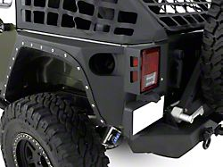Smittybilt XRC Rear Corner Guards - Black Textured (07-18 Jeep Wrangler JK 4 Door)