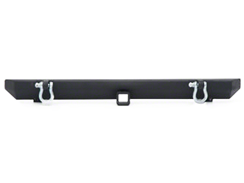 Smittybilt SRC Rear Bumper with D-Rings; Textured Black (87-06 Jeep Wrangler YJ & TJ)
