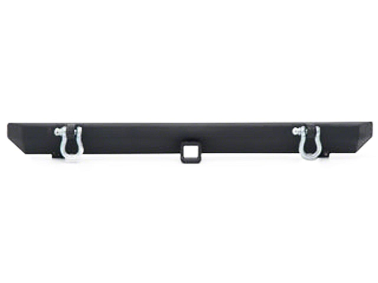 Smittybilt SRC Rear Bumper w/ D-Rings - Textured Black (87-06 Wrangler YJ & TJ)