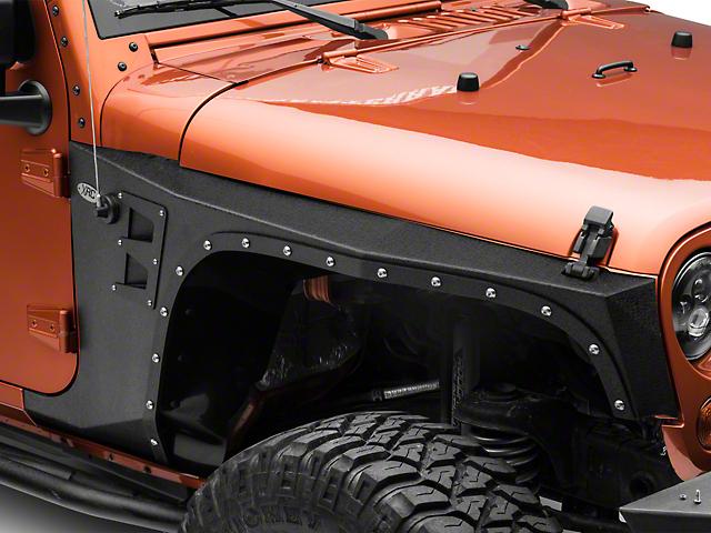 Smittybilt XRC Front Fenders; Black Textured (07-18 Jeep Wrangler JK)