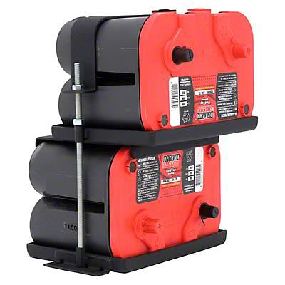 Smittybilt Dual Battery Tray (97-06 Wrangler TJ)