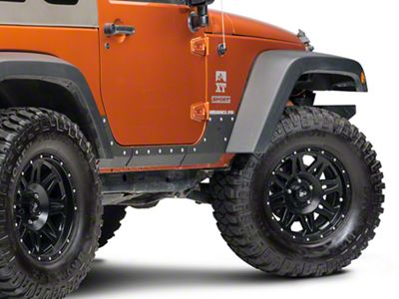 Smittybilt XRC Body Cladding - Black Textured (07-18 Jeep Wrangler JK 2 Door)