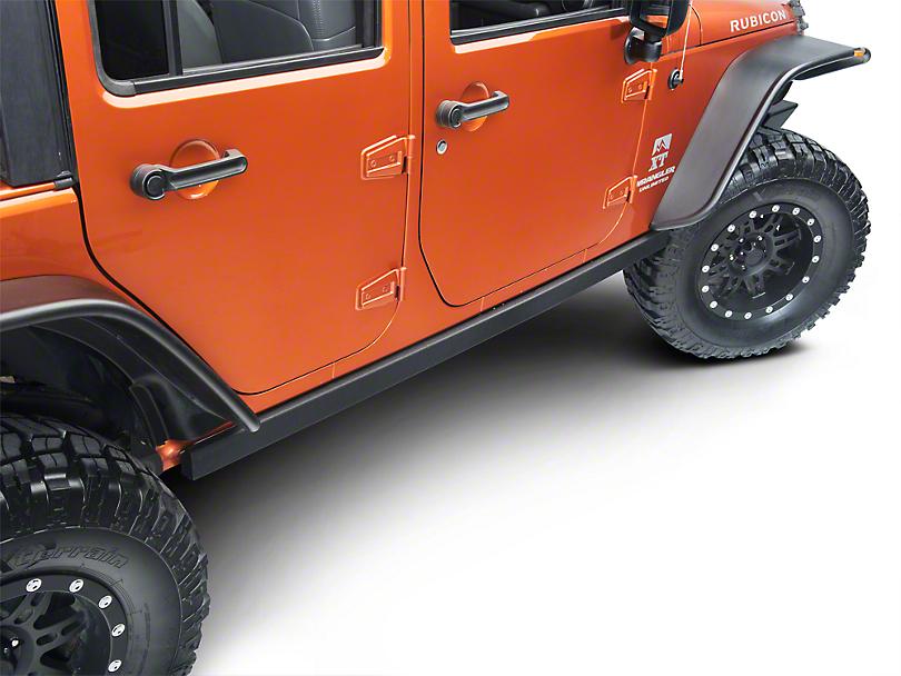 Smittybilt SRC Classic Rock Rails (OEM Style) - Black Textured (07-18 Wrangler JK 4 Door)