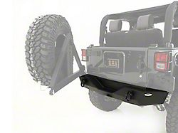 Smittybilt XRC Rear Bumper with Hitch; Textured Black (07-18 Jeep Wrangler JK)