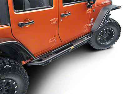 Smittybilt SRC Side Armor - Textured Black (07-18 Jeep Wrangler JK 4 Door)