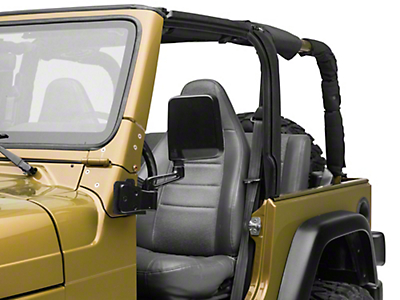 Smittybilt Mirror Relocation Bracket - Textured Black (97-06 Wrangler TJ)