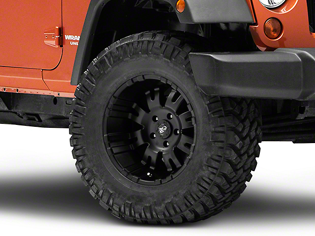 Pro Comp Wheels 01 Series Satin Black Wheel; 17x9 (07-18 Jeep Wrangler JK)