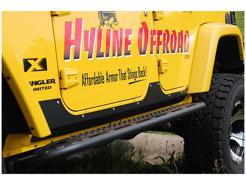 Hyline Offroad Tube Step Rocker Panel 4 DR (07-18 Jeep Wrangler JK)