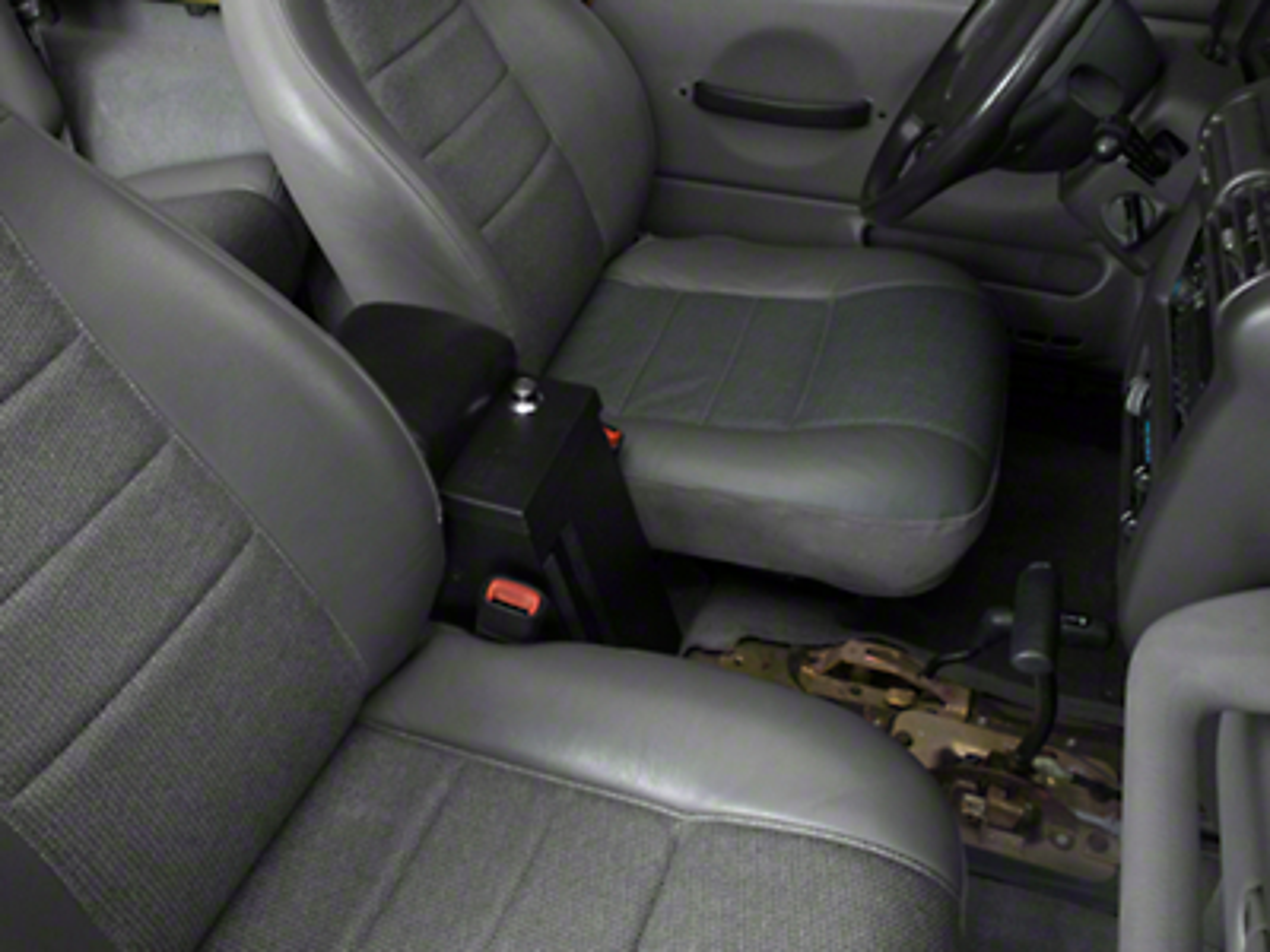 Tuffy Series II Rear Half Security Console - Black (97-06 Jeep Wrangler TJ)