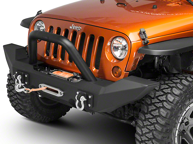 Off Camber Fabrications by MBRP Front Light Bar/Grille Guard System - Black (07-17 Wrangler JK)