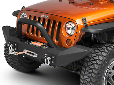Off Camber Fabrications by MBRP Front Light Bar/Grille Guard System - Black (07-18 Wrangler JK)