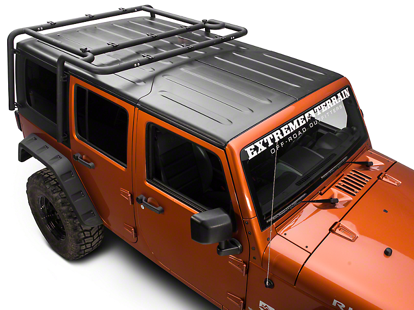 Off Camber Fabrications by MBRP Roof Rack System - Black Coated (07-10 Wrangler JK 4 Door)