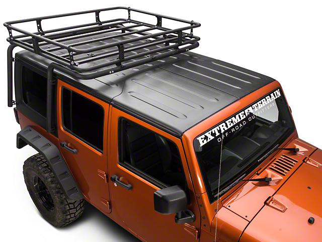 Off Camber Fabrications by MBRP Cargo Basket Kit; Black Coated (07-10 Jeep Wrangler JK 2 Door; 07-18 Jeep Wrangler JK 4 Door)
