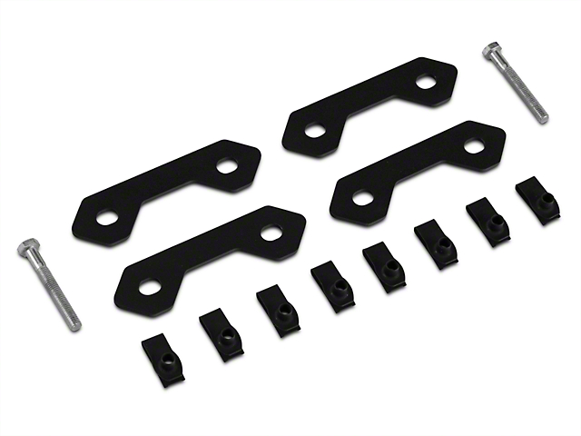 Off Camber Fabrications by MBRP Spare Tire Bracket Reinforcing Kit - Black (07-11 Jeep Wrangler JK)