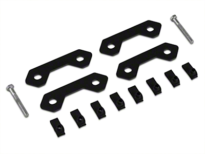 Off Camber Fabrications by MBRP Spare Tire Bracket Reinforcing Kit - Black (07-11 Wrangler JK)