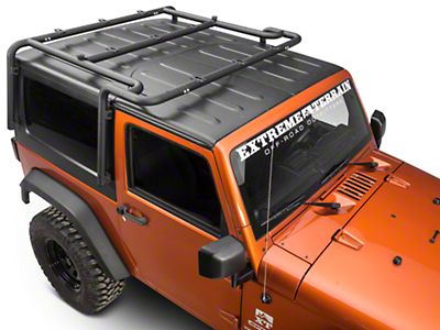 Off Camber Fabrications by MBRP Roof Rack System - Black Coated (07-10 Wrangler JK 2 Door)