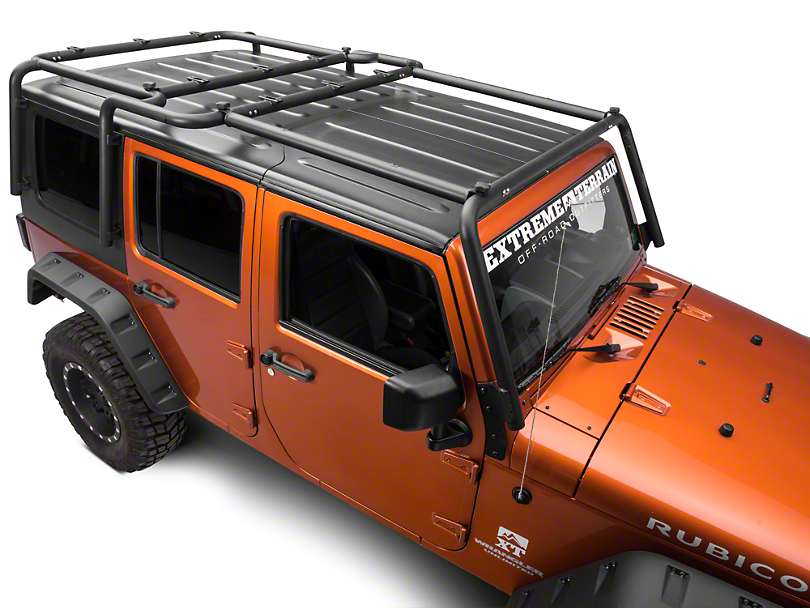 Exceptional Off Camber Fabrications By MBRP Front Roof Rack Extension   Black Coated  (07 18