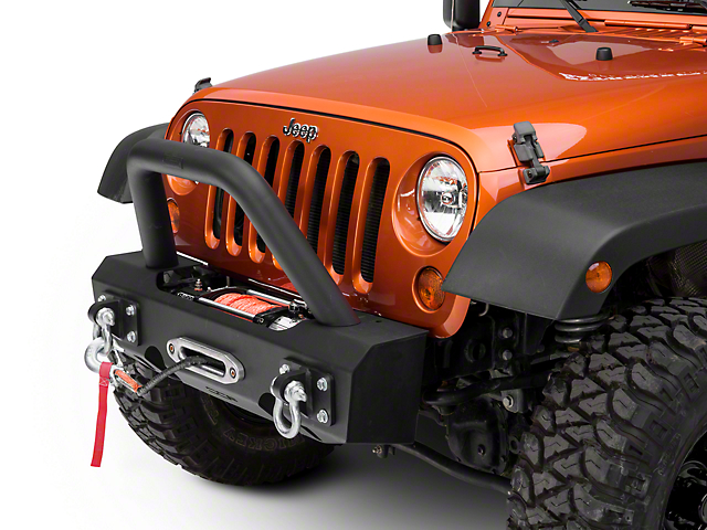 Off Camber Fabrications by MBRP Stubby Front Winch Bumper Package (07-18 Wrangler JK)