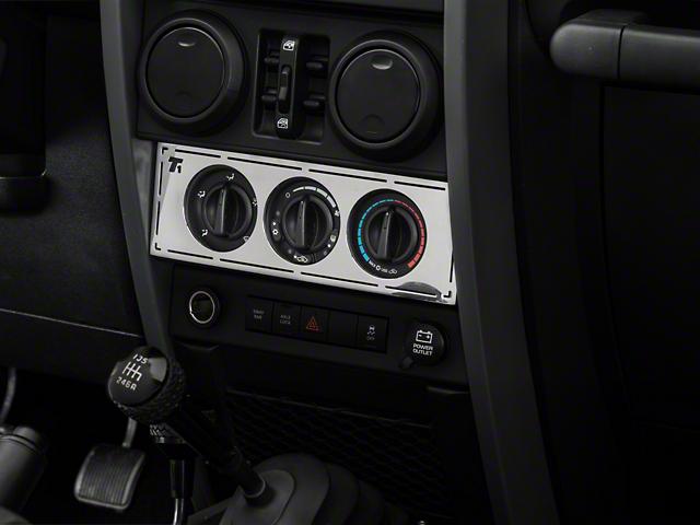 T-REX T1 Series Interior Dash Trim; Climate Control Panel (07-10 Jeep Wrangler JK)