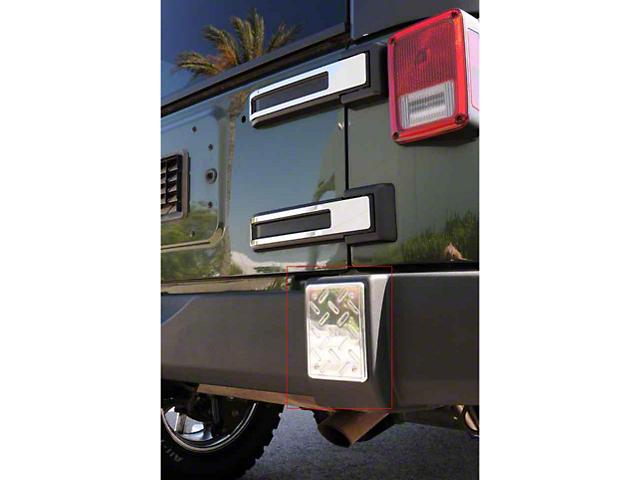 T-REX T1 Series Billet Series Rear Bumper Guards Plate (07-18 Jeep Wrangler JK)