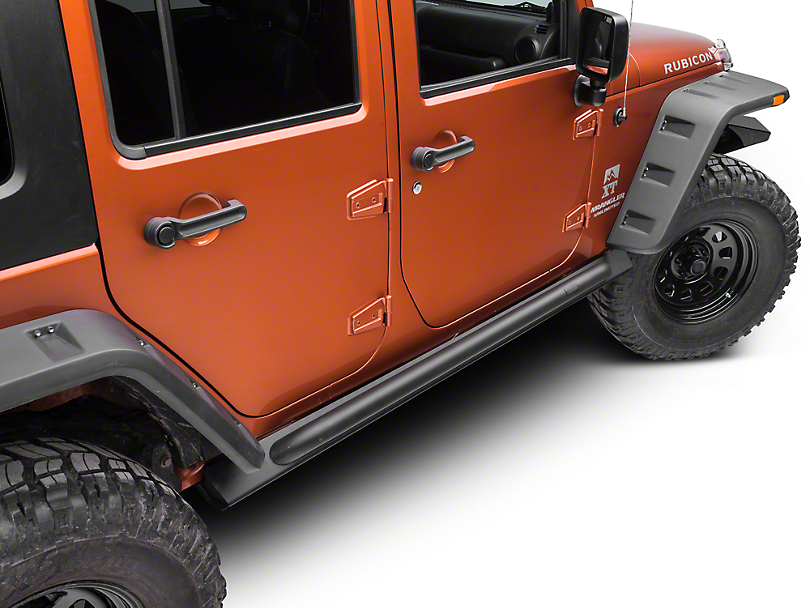 Off Camber Fabrications by MBRP Rock Rail Kit - Black Coated (07-18 Jeep Wrangler JK 4 Door)