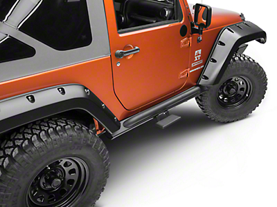 Off Camber Fabrications by MBRP Rock Rail Step - Black Coated (07-18 Wrangler JK)