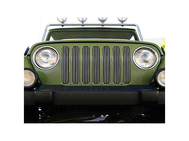 T-REX Billet Series Vertical Grille Insert; Polished (97-06 Jeep Wrangler TJ)