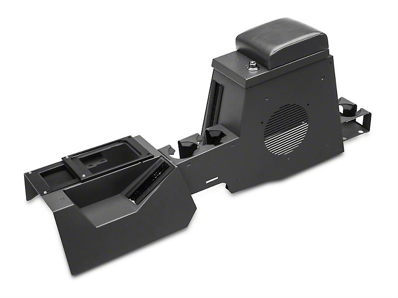 Tuffy Series II Speaker/Storage Security Console - Charcoal (97-06 Wrangler TJ)