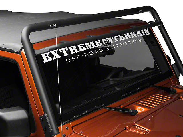 Off Camber Fabrications by MBRP Windshield Light Bar Mount - Black (07-18 Jeep Wrangler JK)