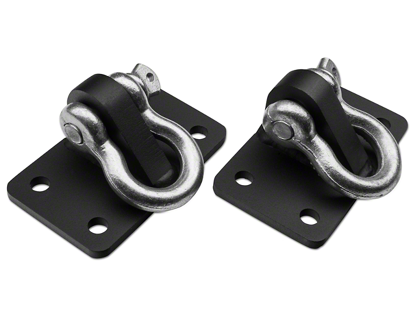Off Camber Fabrications by MBRP D Ring Bracket Mount (07-18 Wrangler JK; 2018 Wrangler JL)