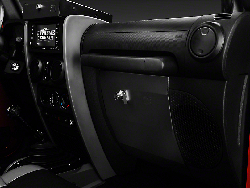 Tuffy Security Glovebox - Dark Slate (07-18 Jeep Wrangler JK)