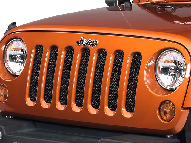 a4f129ff1652e T-REX Jeep Wrangler Sport Series Formed Mesh Grille - Black 46481 (07-18 Jeep  Wrangler JK)