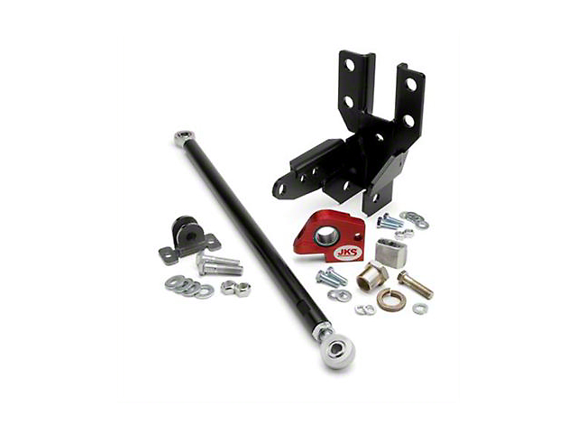 JKS Front Track Bar Mount and Sector Shaft Reinforcement Kit (07-18 Jeep Wrangler JK)