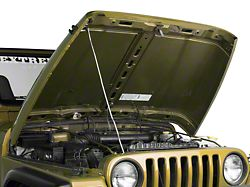 Drake Off Road Hood Prop Rod - Stainless (97-06 Jeep Wrangler TJ)