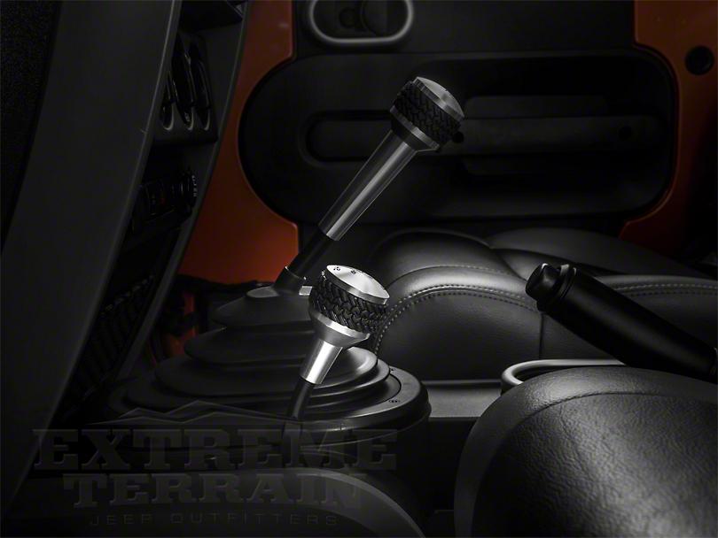 Drake Off Road 4WD Shifter Knob - Brushed (07-18 Jeep Wrangler JK)