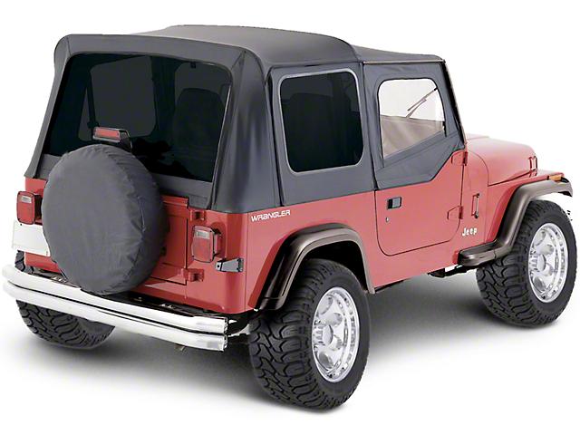 Premium Replacement Soft Top with Tinted Windows; Black Denim (88-95 Jeep Wrangler YJ w/ Half Doors)