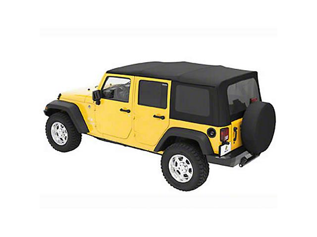 Bestop Sailcloth Replace-A-Top with Tinted Windows; Black Diamond (07-09 Jeep Wrangler JK 4 Door)