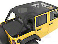 Bestop Safari-Style Header Bikini Top - Mesh (07-09 Jeep Wrangler JK 4 Door)
