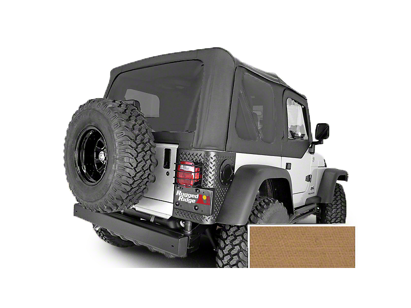 Rugged Ridge Soft Top w/ Tinted Windows & No Door Skins - Spice (97-02 Jeep Wrangler TJ w/ Factory Soft Top)
