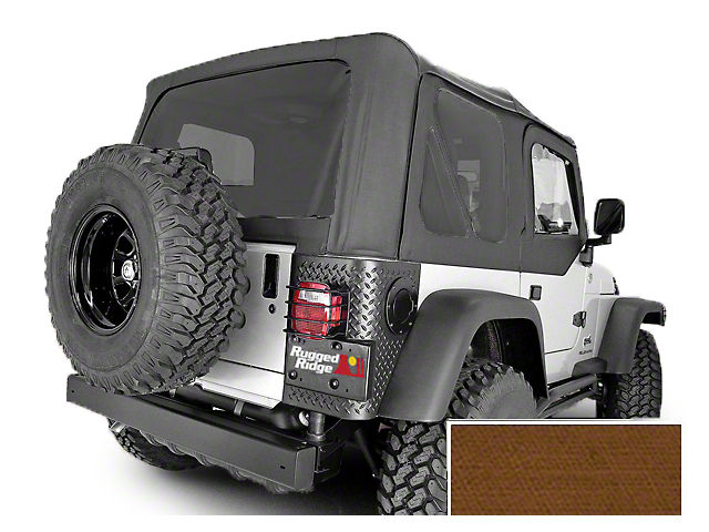 Rugged Ridge Replacement Soft Top with Tinted Windows and Door Skins; Dark Tan (97-02 Jeep Wrangler TJ)