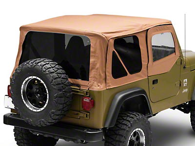 Rugged Ridge Soft Top w/ Tinted Windows & Door Skins - Spice (97-02 Jeep Wrangler TJ w/ Factory Soft Top)