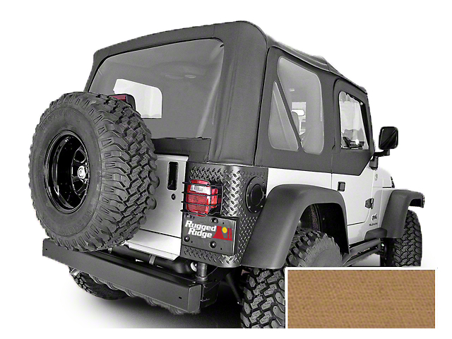 Rugged Ridge XHD Replacement Soft Top with Clear Windows and Door Skins; Spice (97-02 Jeep Wrangler TJ)