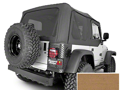 Rugged Ridge XHD Replacement Soft Top w/ Tinted Windows & No Door Skins - Spice (97-02 Jeep Wrangler TJ w/ Factory Soft Top)