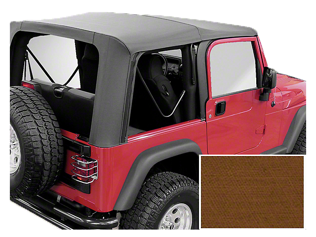 Rugged Ridge XHD Replacement Soft Top with Tinted Windows; Dark Tan (97-02 Jeep Wrangler TJ)