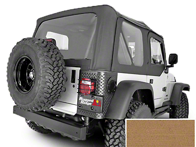 Rugged Ridge XHD Replacement Soft Top w/ Clear Windows & No Door Skins - Spice (97-02 Jeep Wrangler TJ w/ Factory Soft Top)