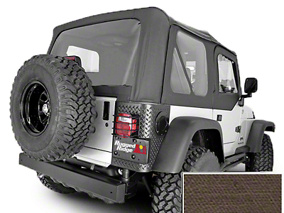 Rugged Ridge XHD Replacement Soft Top w/ Clear Windows & Door Skins - Khaki Diamond (03-06 Jeep Wrangler TJ w/ Factory Soft Top, Excluding Unlimited)