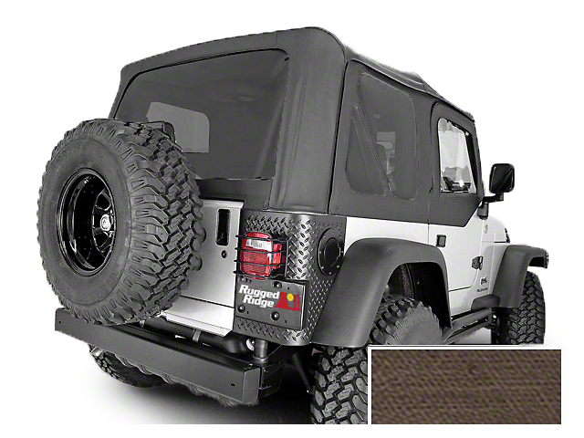Rugged Ridge XHD Replacement Soft Top with Tinted Windows and Door Skins; Khaki Diamond (03-06 Jeep Wrangler TJ, Excluding Unlimited)